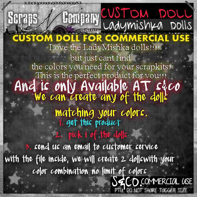 CUSTOM DOLL FOR COMMERCIAL USE